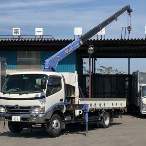 2008 HINO DUTRO Crane Truck