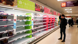 Read more about the article Empty Supermarket Shelves Owing To Truck Driver Shortage